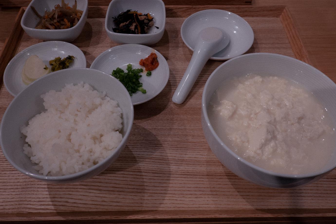 無印良品食堂 MUJI Dinerの湯豆腐セット