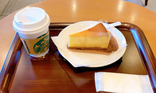 スタバのニューヨークチーズケーキとドリップコーヒー