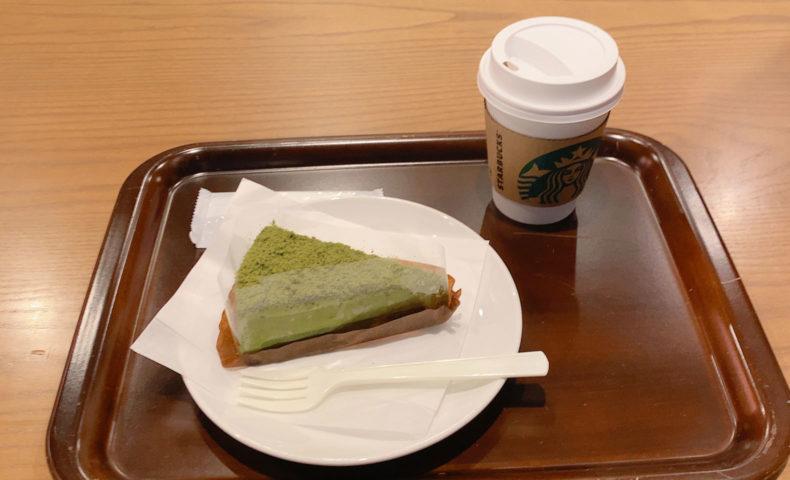 宇治抹茶ケーキとドリップコーヒー