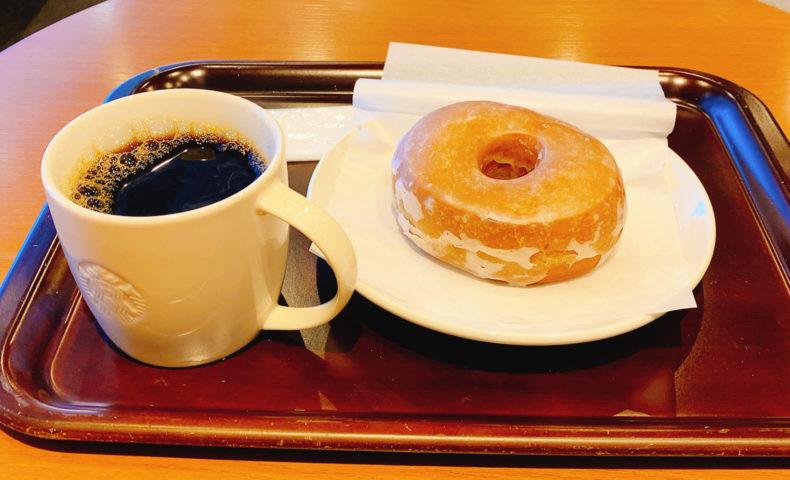コーヒーとシュガードーナッツ