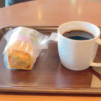 えびアボカドサラダラップとドリップコーヒー