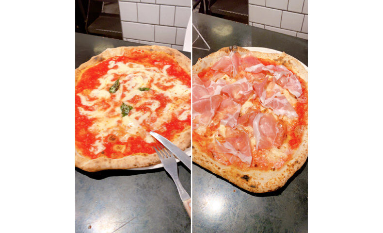 恵比寿のダ・ミケーレのピザ