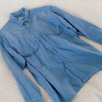 COMOLI ベタシャンCPOシャツ(サックス)