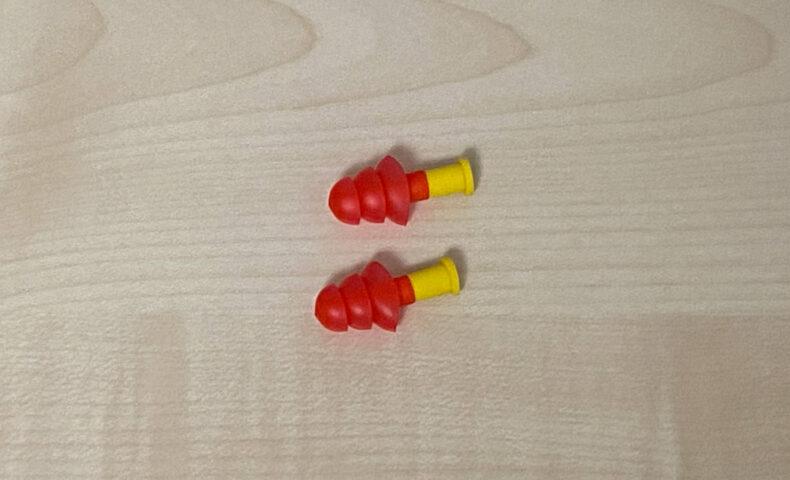 ゴムの耳栓